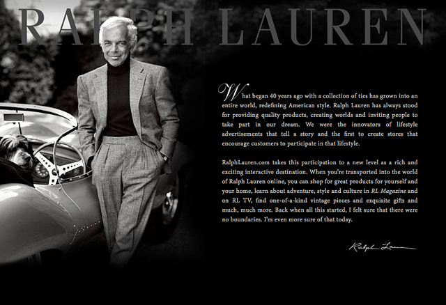 black and white magazine cover with Ralph Lauren