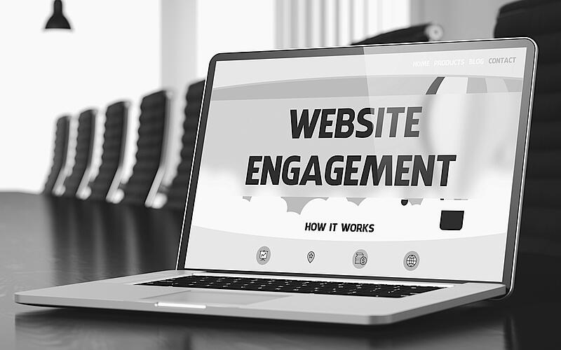 laptop screen displaying how website engagement works