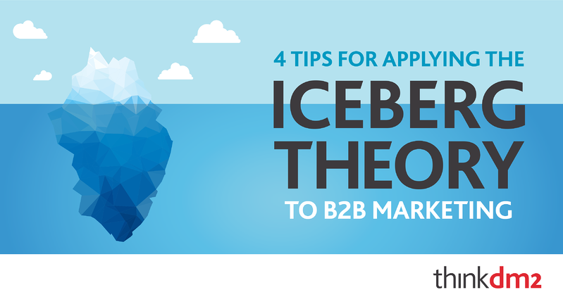 four tips for applying the iceberg theory to b2b marketing